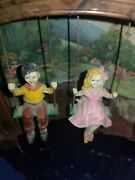 Mastercrafters Bakelite Girl And Boy On Swing Clock W/light Swingtime. For Parts