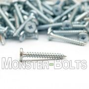 10 Low Profile Pancake Roofing Panel Clip Screws, Combo Drive Zinc Plated Steel