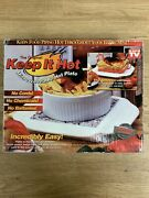 Keep It Hot Microwaveable Granite Stoneware Plate Warmer Insulated Thermal Stone