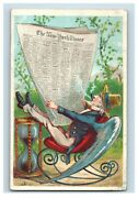 1880's Winged Uncle Sam Reading New York Times Trade Card F57
