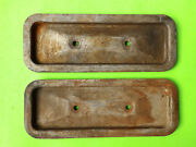 1930and039s 1940and039s 1950and039s Plymouth Dodge Valve Covers Pair 23 Block Oem Mopar