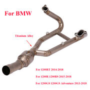 Full Exhaust Link Pipe For Bmw R1200r R1200gs Motorcycle Titanium Connector Tube