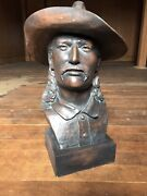 Awesome The Largest Solid Resin Wild Bill Hickok Bronze Bust By Dick Behrends