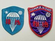Lot Of 2 Oss Chinese Commandos Hand Embroidered Patches