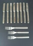 Reed And Barton Stainless Middleburg Marlborough Knives And Fork Set 11 Pieces