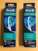 Oral B Dual Clean Electric Toothbrush Replacements Heads Refills 6 Pieces