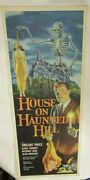 Orig.14x36 Near Mint Unfolded Insert- Castleand039s House On Haunted Hill-and03958 -sale