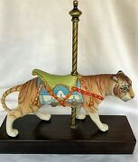 Cybis Tiger Porcelain Carousel Collection Limited Edition Signed And Numbered