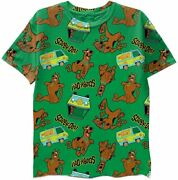 Scooby Doo Boys T-shirt - Graphic Design Split T-shirt And All Over Print...