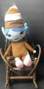 """2014 Girl Scout Brownie Plush Doll Elf Pixie 14"""" Rare Htf With Cap And Elf Shoes"""