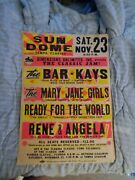 The Mary Jane Girls The Bar Kays Boxing Style Concert Poster Original Globe