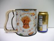 Vtg Metal Androck 3 Screen Sifter Hand I Sift Baking Graphic Country Decor Works