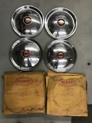 1950 Mopar Chrysler Town And Country New Yorker Set Of 4 Hubcaps Sr10