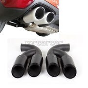 1pair Stainless Steel Exhaust Tips Mufflertail Ends Fit For Porsche Cayenne V8