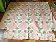 Antique Quilt Hand Made For A Four Poster Bed   68 Inches W X 84 Inches L