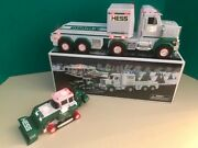 2013 Hess Toy Truck And Tractor Missing Tracks Flashing Light New Condition