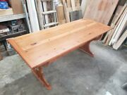 Reclaimed Wood Table Made From Old Growth Pine. Approx. 250 Years Material.