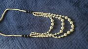 White Black Coral 5-10mm Hawaiian Necklace 30