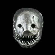 Creepy Scary Horror Silver Butcher Murderer Halloween Cosplay Resin Mask Usa H1