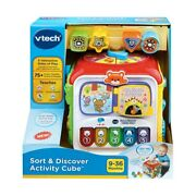 Vtech Sort And Discover Activity Cube Interactive Baby Toddlers Learning Toy F1