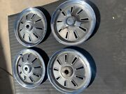 1964 Corvette Early Hubcaps Wheels Cover Set Frosted Frame