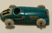 Vintage Biller Pennny Toy Tin Race Car 11 Blue 1950andrsquos Made In U.s. Zone Germany