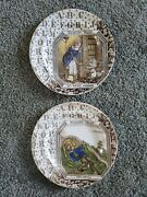 Antique Nursery Tales Old Mother Hubbard Jack And Jill Tunstall England Plates