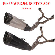 Full Exhaust System Muffler Mid Link Pipe For Bmw R1250r Rs Rt Gs Adv Dirt Bike