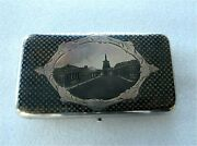 Russian Sterling Silver Gilded Niello Cigar Box 1864 Moscow
