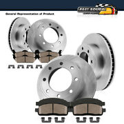 Front+rear Brake Rotors And Ceramic Pads For Ford F350 1999 3/22/1999 4wd Dually