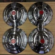 1960and039s Vintage 14andrdquo Hubcaps Set Of 4 Nos Sr