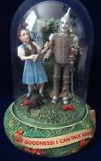 Wizard Of Oz My Goodness I Can Talk Again Music Box W/glass Dome 1997 5 Tall