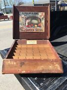 1890andrsquos Primitive Old Country Store Wooden Garden Seed Display Mercersburg Pa