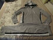 Victoriaand039s Secret Pink Bling Outfit Perfect Full Zip Skinny Jogger Large