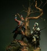 French Marine Vs Iroquois Warrior Painted Toy Soldier Pre-sale   Museum