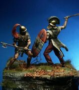 Battle Of Etruscan And Gaul Warriors Painted Toy Miniature Pre-sale | Museum