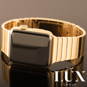 Hermes 24k Gold Series 6 Apple Watch 44mm With Apple 24k Gold Link Band Custom
