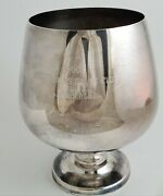 7 Poole Silver Co Silverplate Epca 831 Goblet Prize Inscribed 1966 Small Dent