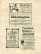 Original Laundry Antique Washing Powder Boilers Heaters Vintage Paper Ads 3268