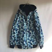 A Bathing Ape Camouflage Reversible Hoodie Jacket Size L