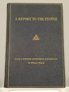 A Report To The People Stone And Webster Engineering Corp. In World War Ii