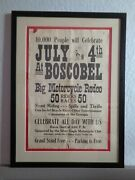 Early Motorcycle Poster Boscobel Wi 4th Of July Rodeo Stunts 1930and039s