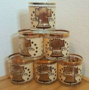Set Of 6 Bicentennial Declaration Of Independence Whiskey Glasses Holds 8 Ozs