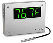 Tempeye M120i Indoor Outdoor Thermometer Digital Color Display Stainless Steel