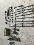 57 Piece Arcade Cast Iron Toy Road Rail Signs Us Mail Turn Fire Military Wagon