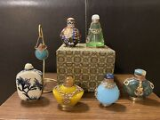 Rare Antique Collection Of 10 Chinese Snuff Bottles - Assorted Styles