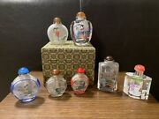 Collection Of Antique/vintage Glass Chinese Snuff Bottles
