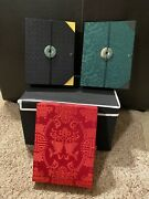 New - Set Of 3 Photo Albums With Matching Silk Boxes By Shanghai Tang