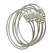 Plain Or Vinyl Coated Stainless Steel Wire Cable W/screw Clasp Key Ring 1200 Pcs