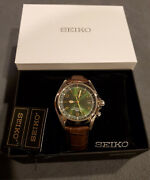 Seiko Alpinist Sarb017 Rare Discontinued Japan Import Green Gold Automatic Watch